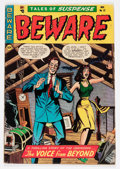 Golden Age (1938-1955):Horror, Beware #12 (Youthful Magazines, 1952) Condition: FN-....