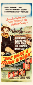 "Movie Posters:Western, She Wore a Yellow Ribbon (RKO, 1949). Insert (14"" X 36"").. ..."