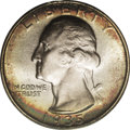 Washington Quarters: , 1935-S 25C MS67 PCGS. Dazzling luster radiates from impeccablypreserved surfaces that display whispers of cobalt-blue, cri...