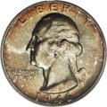 Washington Quarters: , 1946 25C MS67 PCGS. Not an uncommon coin in lower grades but quitea condition rarity in MS67, the 1946 Washington quarters...