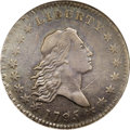 Early Half Dollars: , 1795 50C 2 Leaves XF40 ANACS. O-125, R.5. Both sides of thisexample steel-gray color with hints of pale blue and light gol...