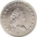 Early Half Dollars: , 1795 50C 2 Leaves--Corroded, Cleaned--ANACS. AU50 Details. O-131,High R.4. A sharp and lightly toned piece with pleasing r...