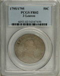 Early Half Dollars: , 1795 50C 3 Leaves Fair 2 PCGS. O-111, High R.4. The sole ThreeLeaves die marriage. The obverse is deep silver gray, the re...