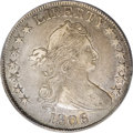 Early Half Dollars: , 1806 50C 6 Over Inverted 6 XF40 PCGS. O-111, R.3. The 1 in the datenearly touches the curl, and star 13 nearly touches the...