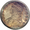Bust Half Dollars: , 1822 50C MS65 PCGS. O-106a, R.3. Beautiful golden-brown andaquamarine toning endow this lustrous and refreshingly smooth G...