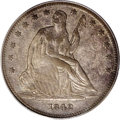 Seated Half Dollars: , 1842-O 50C Small Date, Small Letters XF40 PCGS. WB-101. Thisvariety is distinguished by the beginnings of the die crack be...