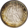 Seated Half Dollars: , 1842 50C Small Date, Large Letters MS63 PCGS. WB-102. The 102variety is rarely seen in mint condition, the 1992 Wiley-Buge...