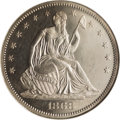 Proof Seated Half Dollars: , 1868 50C PR65 NGC. With a mintage of just 600 specimens, the 1868is one of the less common post-Civil War proof halves. Th...