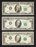 Error Notes:Error Group Lots, Fr. 2019-L $10 1969A Federal Reserve Note. Very Fine;. Fr. 2021-G$10 1969C Federal Reserve Note. Very Fine;. Fr. 2028-E $10 1...(Total: 3 notes)