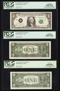 Error Notes:Error Group Lots, Fr. 1910-F $1 1977A Federal Reserve Notes. Two Examples. PCGS GemNew 66PPQ; Fr. 1910-L $1 1977A Federal Reserve Note. PCGS Ge...(Total: 3 notes)