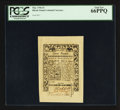 Colonial Notes:Rhode Island, Rhode Island May 1786 £3 PCGS Gem New 66PPQ.. ...