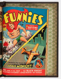 Golden Age (1938-1955):Miscellaneous, The Funnies #46-62 Partial Issues Bound Volume (Dell, 1940-41)....