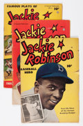 Golden Age (1938-1955):Non-Fiction, Jackie Robinson #nn, 5, and 6 Group (Fawcett, 1950-52).... (Total:3 Comic Books)