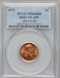 Lincoln Cents, 1972 1C Doubled Die Obverse FS-109 MS64 Red PCGS. Ex: (FS-033.59).PCGS Population (836/1716). NGC Census: (478/706). Minta...
