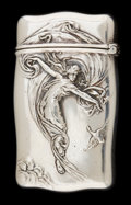 Silver Smalls, A GORHAM SILVER MATCH SAFE . Gorham Manufacturing Co., Providence,Rhode Island, circa 1910. Marks: (lion-anchor-G), STERL...