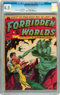 Golden Age (1938-1955):Science Fiction, Forbidden Worlds #1 (ACG, 1951) CGC VG+ 4.5 Off-white to whitepages....