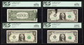 Error Notes:Ink Smears, Fr. 1909-E $1 1977 Federal Reserve Note. PCGS Gem New 66PPQ;. Fr.1909-K $1 1977 Federal Reserve Notes. Two Examples. PCGS... (Total:4 notes)
