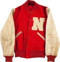 Football Collectibles:Uniforms, 1950's University of Nebraska Original Letterman's Jacket....