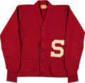 Football Collectibles:Uniforms, 1940's Stanford University Cardinal Original Letterman's Jacket....
