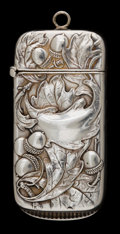 Silver Smalls, A GORHAM SILVER MATCH SAFE . Gorham Manufacturing Co., Providence,Rhode Island, 1900. Marks: (lion-anchor-G), STERLING, B...