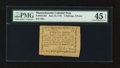 Colonial Notes:Massachusetts, Massachusetts June 18, 1776 5s 4d PMG Choice Extremely Fine 45EPQ.. ...