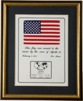 Transportation:Space Exploration, Apollo 14 Flown American Flag. ...