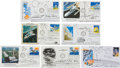 Autographs:Artists, Robert T. McCall: Collection of Seven Original Signed Ink Sketcheson Space First Day Covers.... (Total: 7 Items)