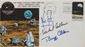 Autographs:Celebrities, Apollo 11 Crew-Signed Insurance Cover with NASA Manned SpacecraftCenter Stamp Club Cachet....