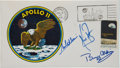 Autographs:Celebrities, Apollo 11 Crew-Signed Insurance Cover with Mission InsigniaCachet....