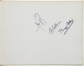 Autographs:Celebrities, Apollo 11 Crew-Signed Book: Man on the Moon...