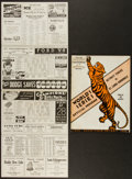Baseball Collectibles:Publications, 1934 World Series Program And 1936 Boston Vs. Detroit Scorecard LotOf 2....