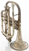 Musical Instruments:Horns & Wind Instruments, Jean Marbeau Solo Paris Silver Cornet...