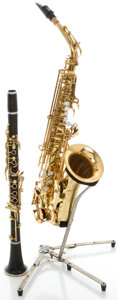 Musical Instruments:Horns & Wind Instruments, Conn Naked Lady Brass Alto Saxophone and LeBlanc Clarinet, Serial#90151.... (Total: 2 Items)