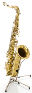 Musical Instruments:Horns & Wind Instruments, Circa late 1950's Buescher 400 Model Brass Tenor Saxophone, Serial #354219....