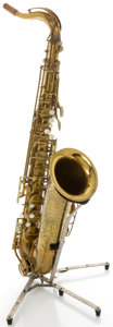 Musical Instruments:Horns & Wind Instruments, Circa 1956 The Martin Brass Tenor Saxophone, Serial #195826....