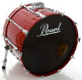 "Musical Instruments:Drums & Percussion, Pearl ""All Birch Shell"" Trans Red Drum Set, Serial #672805....(Total: 5 Items)"