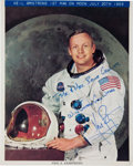 Autographs:Celebrities, Neil Armstrong Signed Color White Spacesuit Photo. ...