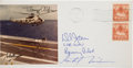 Autographs:Celebrities, Apollo 11 Crew-Signed Photo on Splashdown Cover Signed by the Recovery Pilot and President Richard Nixon. ...