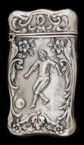 Silver Smalls:Match Safes, AN AMERICAN SILVER MATCH SAFE . Maker unknown, American, circa1880. Marks: STERLING. 2-1/2 inches high (6.4 cm). .36 tr...