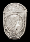 Silver Smalls:Match Safes, A GILBERT SILVER MATCH SAFE . F.S. Gilbert, North Attleboro,Massachusetts, circa 1895. Marks: STERLING G. 2-1/2 inches...