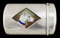 Silver Smalls:Match Safes, A CARTER SILVER AND ENAMEL MATCH SAFE . Carter Howe & Co., NewYork, New York, circa 1910. Marks: (C within arrow),STERL...