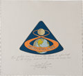 Transportation:Railroad, Apollo 8 Flown Beta Cloth Mission Insignia Directly from thePersonal Collection of Mission Command Module Pilot JamesLovell,...