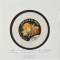 Transportation:Space Exploration, Apollo 13 Flown Beta Cloth Mission Insignia Directly from thePersonal Collection of Mission Commander James Lovell, Signed an...
