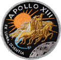 Transportation:Space Exploration, Apollo 13 Flown Embroidered Mission Insignia Patch Directly fromthe Personal Collection of Mission Commander James Lovell, Si...