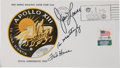 Transportation:Space Exploration, Apollo 13 Crew-Signed Insurance Cover Directly from the PersonalCollection of Mission Commander James Lovell, Signed and Cert...