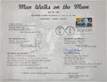 """Autographs:Celebrities, Apollo 11 Crew-Signed """"First Man on the Moon"""" Stamp First DaySouvenir Sheet Directly from the Personal Collection of Backup M..."""