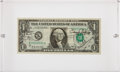 Autographs:Celebrities, Apollo 11 Crew-Signed One Dollar Bill Directly from the PersonalCollection of Backup Mission Commander James Lovell, with Sig...