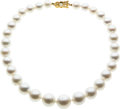 Estate Jewelry:Pearls, South Sea Cultured Pearl, Gold Necklace, Mikimoto. ...
