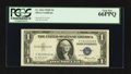 Small Size:Silver Certificates, Fr. 1614 $1 1935E Silver Certificate. Solid Serial Number Y 33333333 G. PCGS Gem New 66PPQ.. ...