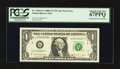 Error Notes:Mismatched Serial Numbers, Fr. 1916-G* $1 1988A Federal Reserve Note. PCGS Superb Gem New67PPQ.. ...